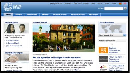 Goethe-Institut - Website