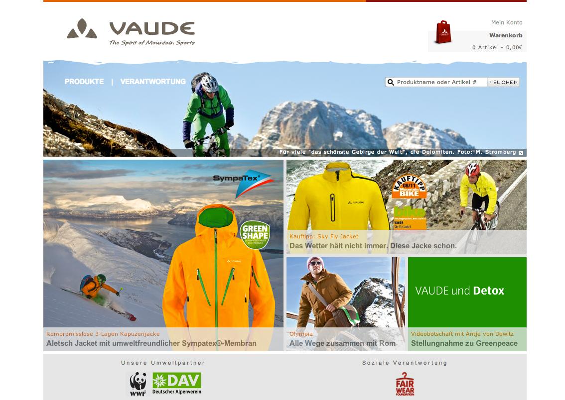 VAUDE, neue eCommerce-Plattform