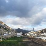 Solarthermie, Parabolrinnen, Solarkraftwerk
