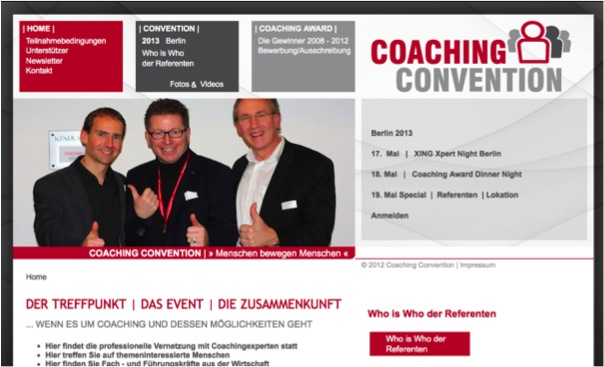Coaching Convention Website