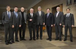 TU9 und VDI treffen sich an der Universität Stuttgart und vereinbaren eine gemeinsame Initiative für mehr internationalen Ingenieurnachwuchs. (Foto: Universität Stuttgart/Frank Eppler)