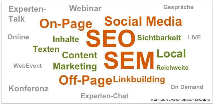 SEO, SEM, Online, WebConference, Internet, Social Media, Content