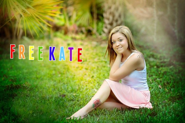 Kaitlyn Hunt - Bild der Facebook-Kampagne