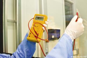 Großflächige transparente, leitfähige Elektroden des Fraunhofer FEP
