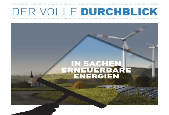 Erneuerbare Energien, Energiewende, Energiediskussion