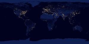 Erde, global, Welt, Nacht, Ausland, Welthandel, Energie