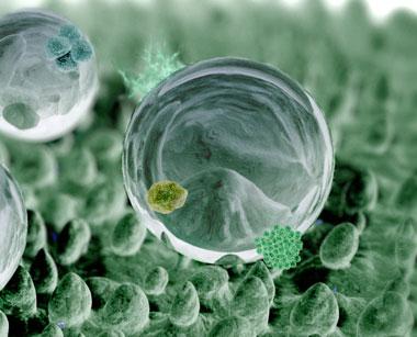 Nanotechnologie, Nanopartikel, Nanoteilchen, Nanomaterial