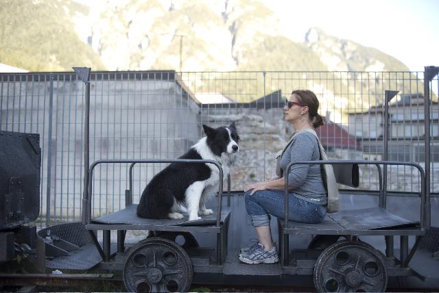 Hund und Andrea Latritsch-Karlbauer bewahren Haltung
