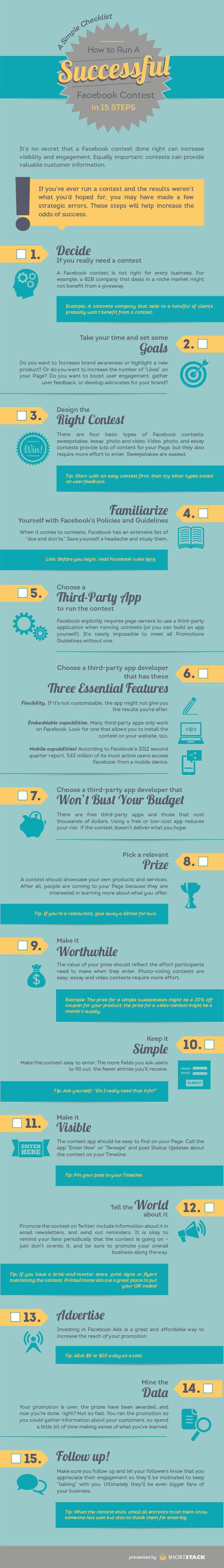 Erfolgreiches Facebook-Gewinnspiel, 15 Tipps