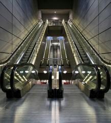 Rolltreppe in einer Metro in Kopenhagen