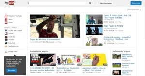 YouTube-Startseite, Snapshot