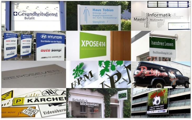 Werbetechnik, Beispiele, Lindstädt, Produkte, Werbung