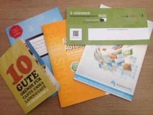 Werbemittel, Flyer, Broschüren, Werbung, Marketing