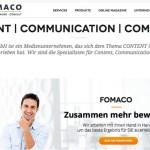 FOMACO GmbH, Medien, Kommunikation, Content