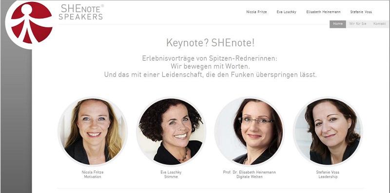 SHEnotes, Keynotes, Redner, Rednerinnen, Speaker