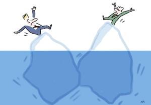 Tanz mit den Eisbergen, internationales Business