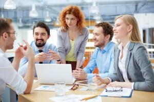 Meeting, Zusammenarbeit, teamorientierte Unternehmen