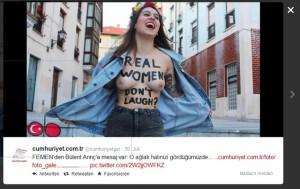Lachen, Türken, Femen, Frauenrechtsorganisation