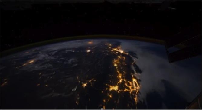 Nachtflug, Erde, Video, Film, Youtube, David Peterson