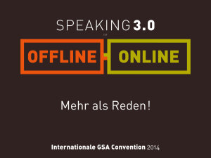 GSA, GSA Convention 2014, Speaker, Event, Bonn