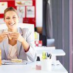 Arbeitsplatz, Essen, Ernährung, Büro, Mittagspause, Arbeit, happy at work