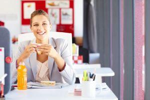 Arbeitsplatz, Essen, Ernährung, Büro, Mittagspause