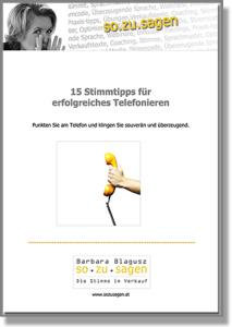 Stimme, Stimmtipps, Barbara Blagusz, telefonieren, download