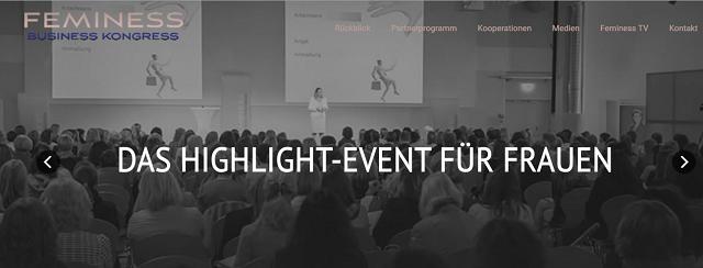feminess-kongress, feminess-kongress 2015, frauen, business, screenshot