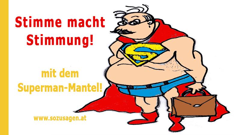 barbara blagusz, superman-mantel, stimmung, stimme