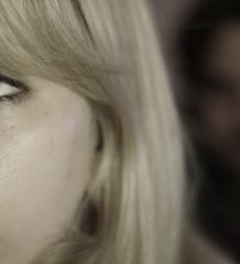 Vorwärtsbewegen, Gesicht, junge Frau