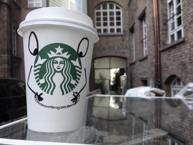 starbucks, dummheit, kaffee