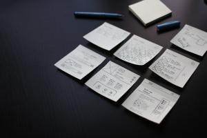 Projektmanagment, Post-It, Zettel