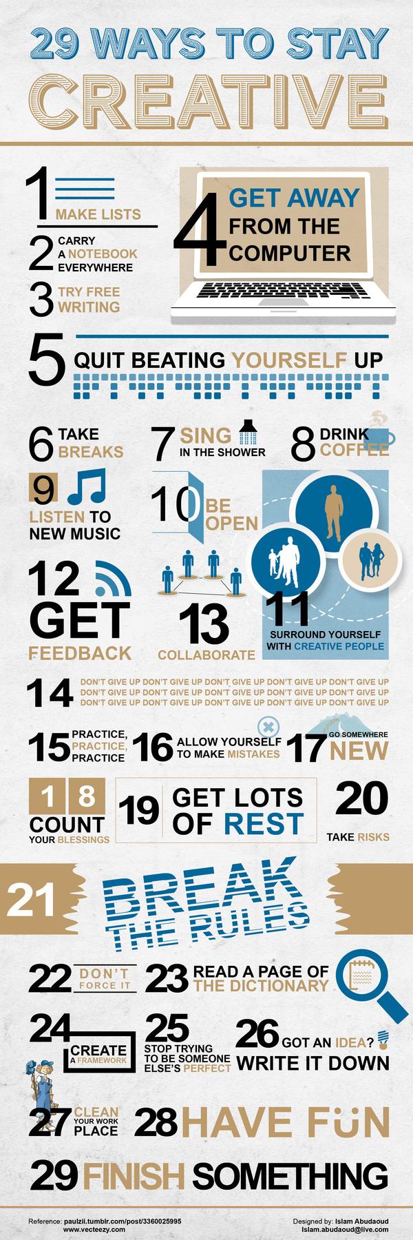 Kreativität, kreativ, Infografik, Tipps & Tricks
