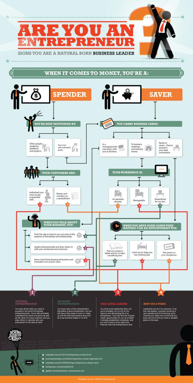 Geborene Unternehmer, Infografik, Entrepreneur