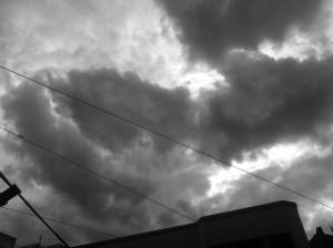 katastrophen, himmel, wolken, düster