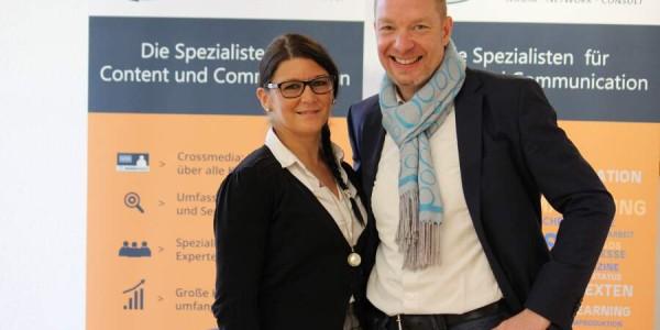 Oliver Foitzik und Sahra Holden waren für das Fomaco Team da. (Bild: © Claudia Zesewitz / Fomaco GmbH)