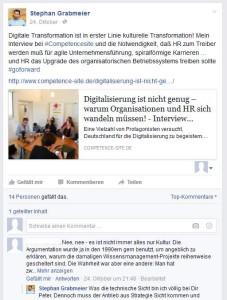 Facebook-Post, Beitrag auf Facebook, Stephan Grabmeier