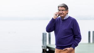 Reichtum, Sonnenburg, Meer, Handy, Telefonieren