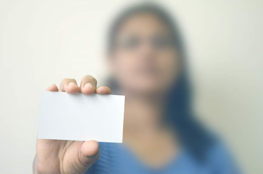 Visitenkarten, Tipps, Frau, Karte