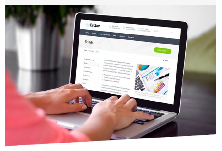 Screenshot Themeforest / Broker / Business
