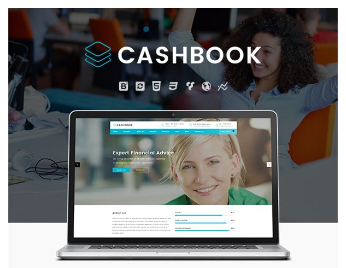 Screenshot Themeforest / Cashbook / Business