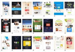 Der Landing Page Editor stellt eine Auswahl an mehr als 100 Vorlagen für die perfekte Landing Page zur Verfügung.