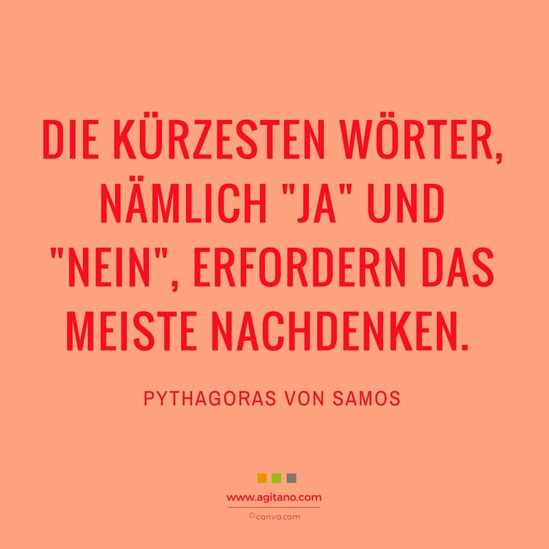 Führung, Entscheidung, Pythagoras