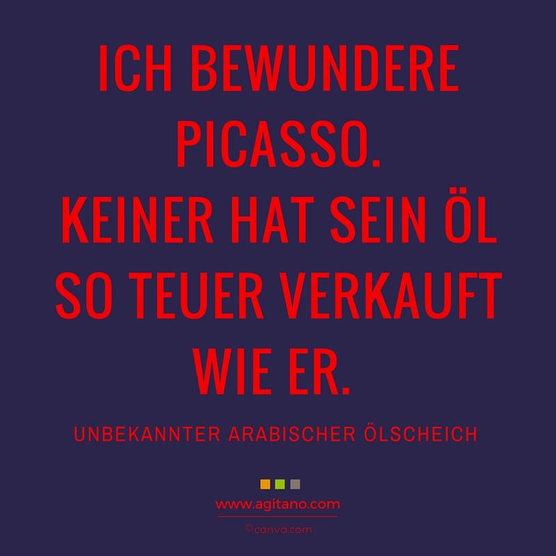 Kreativität, Picasso, Humor, Vertrieb, Vergangenheit