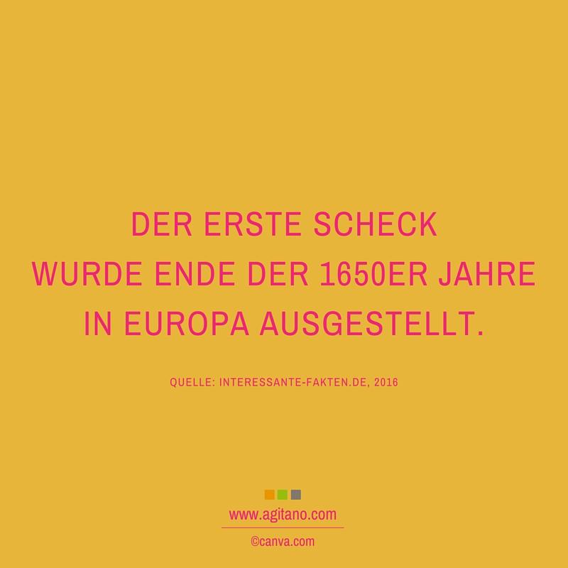 Scheck, Europa, Geld
