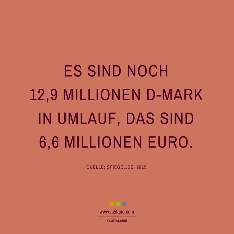 D-Mark, Umlauf, Millionen, Geld