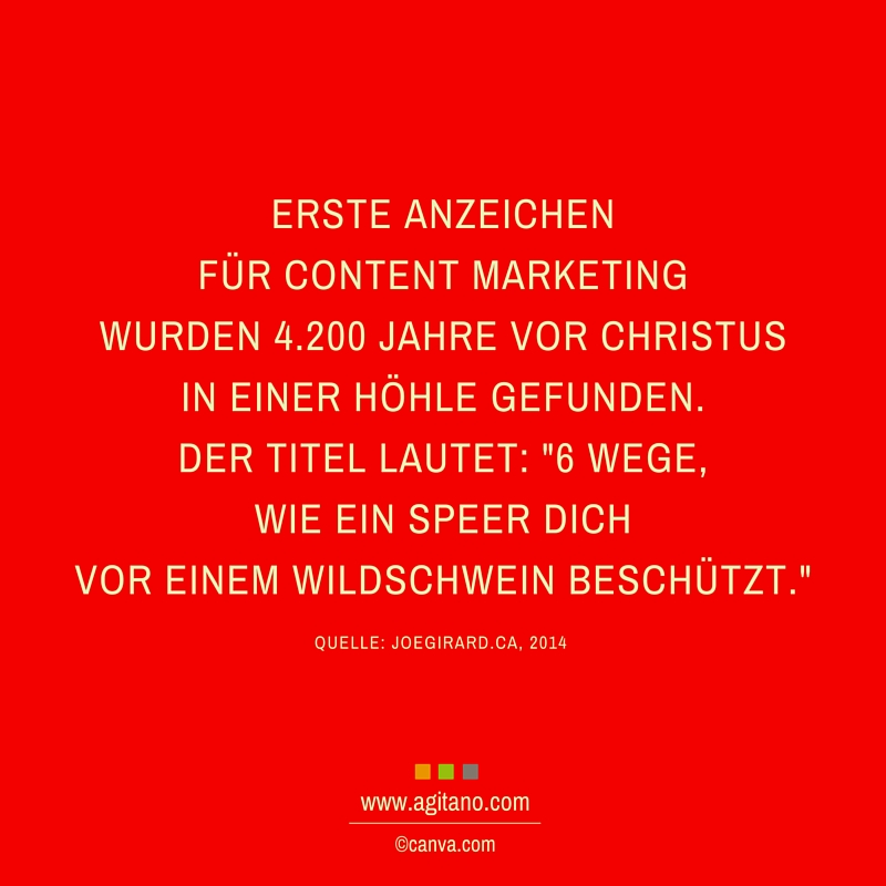 Content Marketing, Anzeichen, Marketing