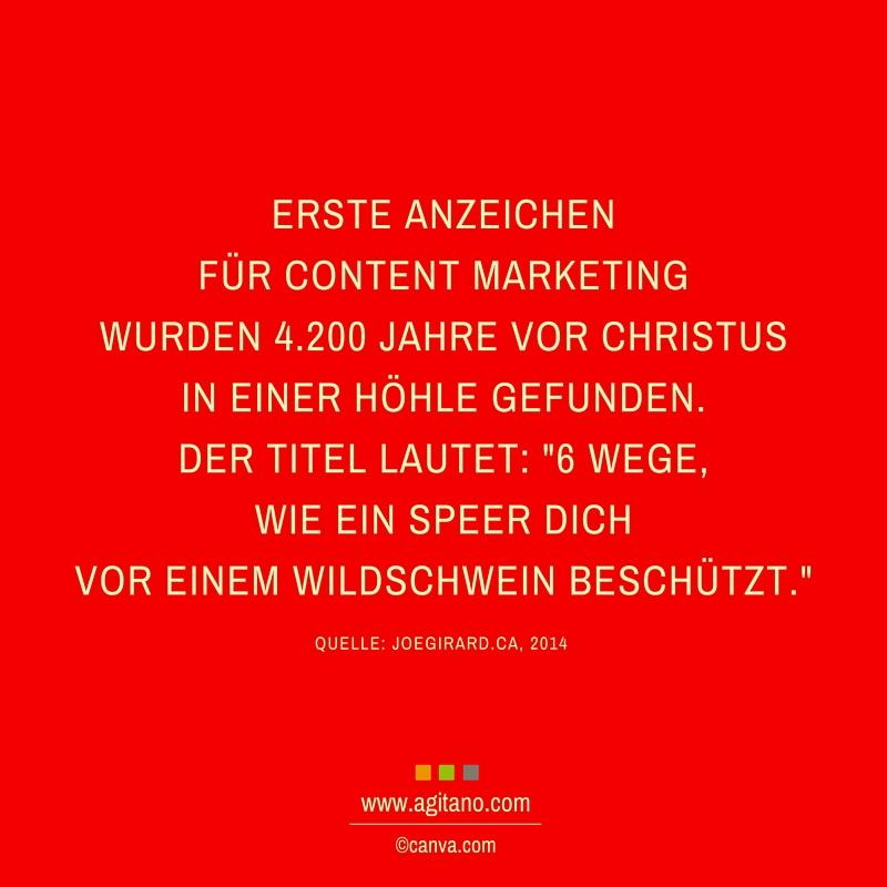Content Marketing, Anzeichen, Marketing