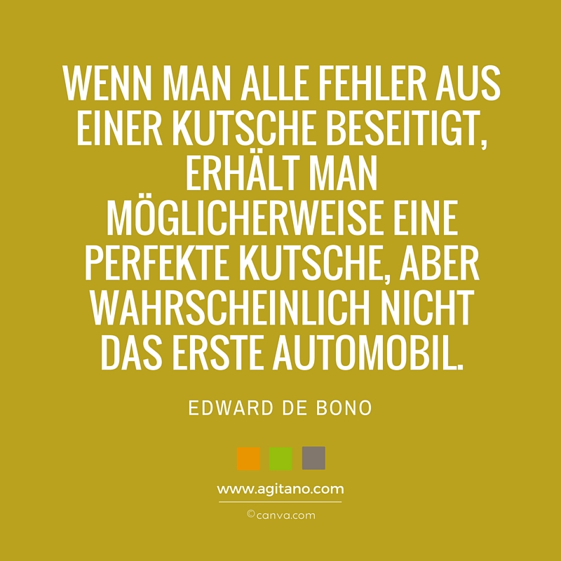Zitat, Edward de Bono, Fehler, Automobil, Scheitern, Technik