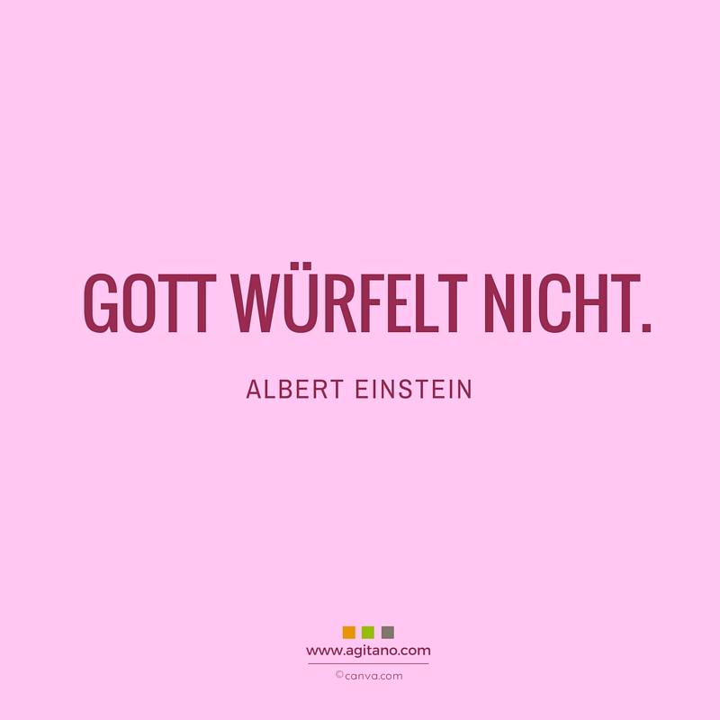 Zitat, Gott, Albert Einstein, Zufall, Schicksal